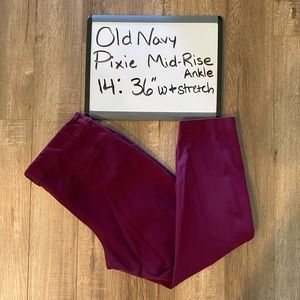 Old Navy ankle Pixie Pants